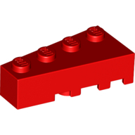 LEGO® wig 2x4 links ROOD